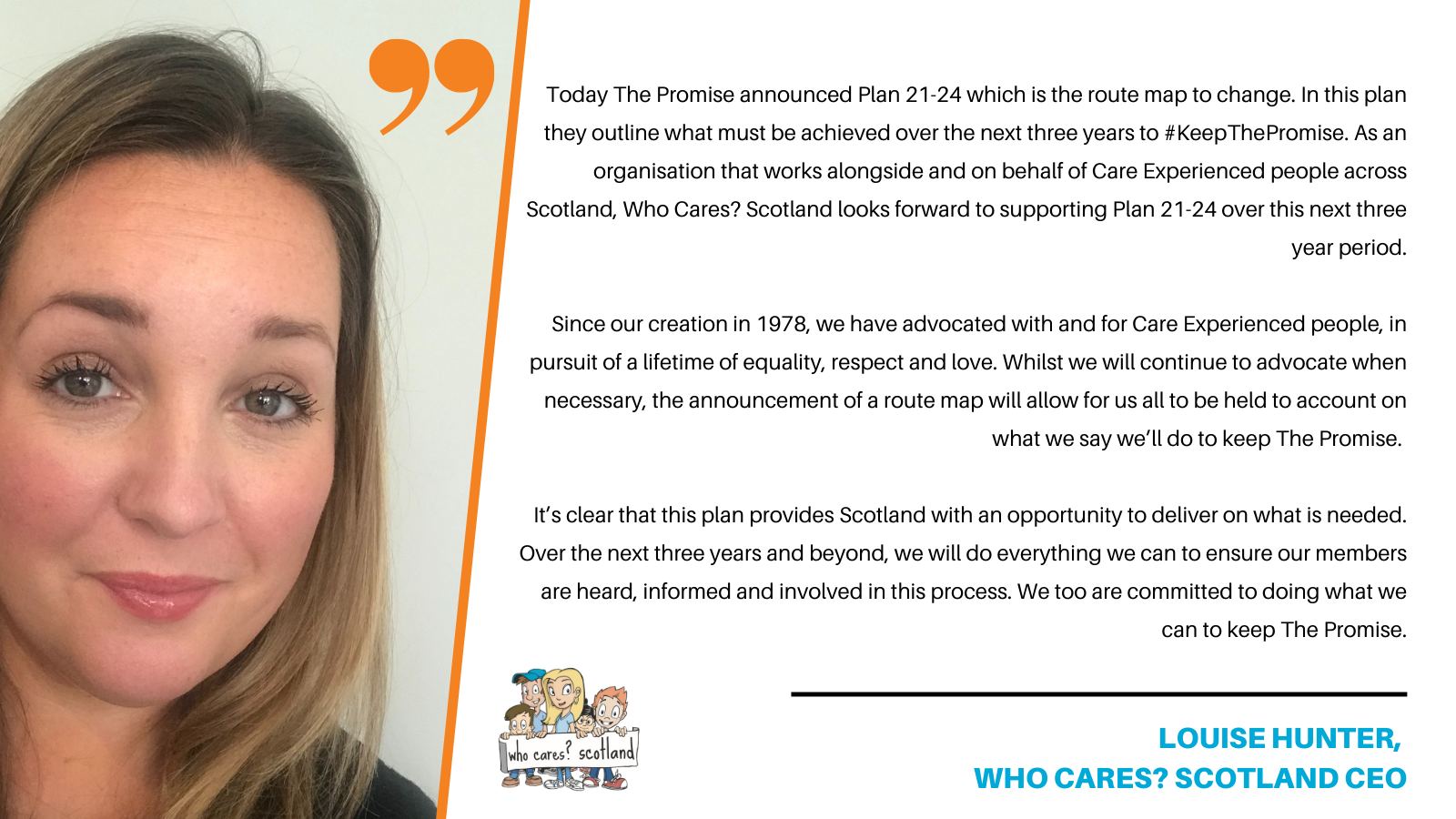 Who Cares? Scotland Shows Support for The Promise Plan 21-24